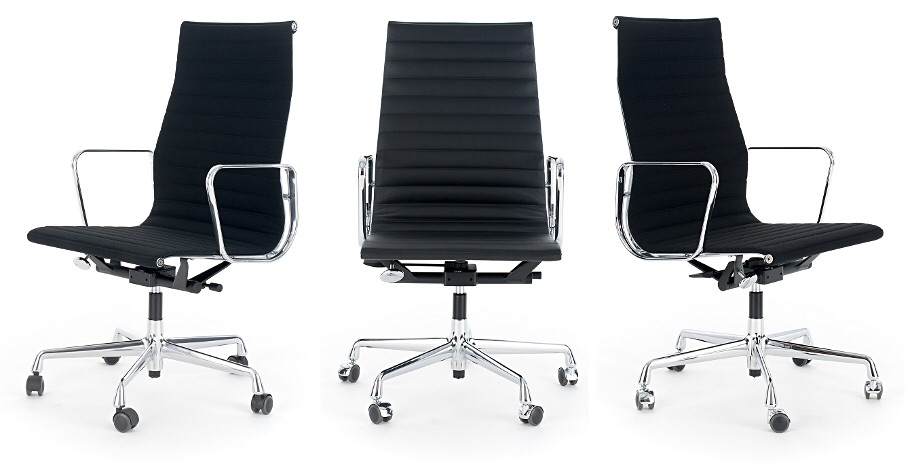 Eames Stoel Origineel : Michel de thouars originele vitra ea bureaustoel zwart leder