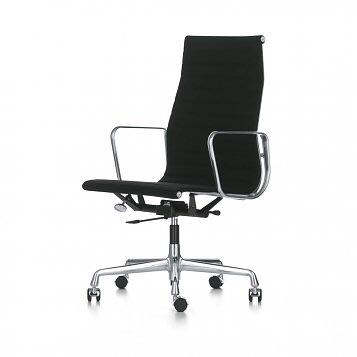 Vitra Bureaustoel Tweedehands.Originele Vitra Ea119 Bureaustoel Zwart Leder Chroom